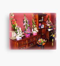Floral arrangement - Florist Shop Canvas Print