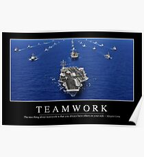 Teamwork: Inspirational Quote and Motivational Poster Poster