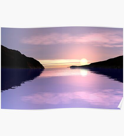 Lilac Sunrise Poster