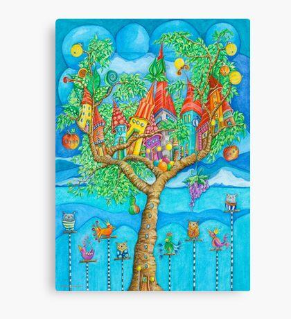 Tree House - Fantasy Word Canvas Print