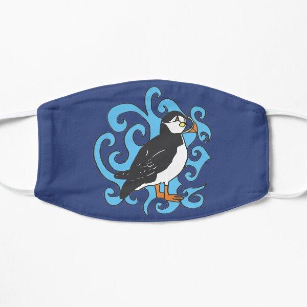 Puffin in Blue Swirls Mask
