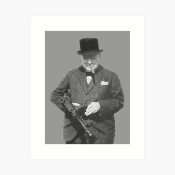 Sir Winston Churchill  Art Print