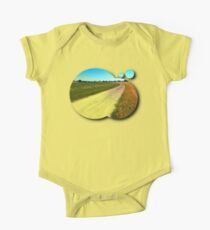 Lonely countryside gravel road One Piece - Short Sleeve
