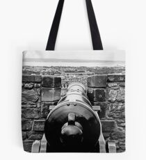 Looking down the barrel Tote Bag