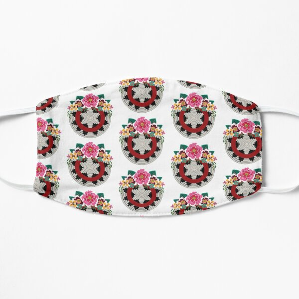 Navajo Basket with Flowers Mask