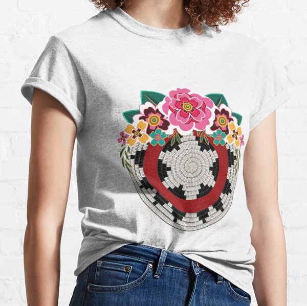 Navajo Basket with Flowers Classic T-Shirt