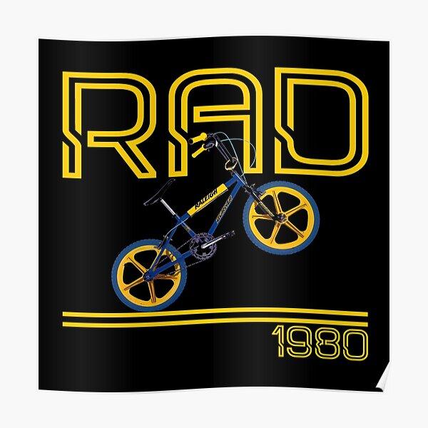 Bicicleta de bicicleta BMX retro de los 80 Póster