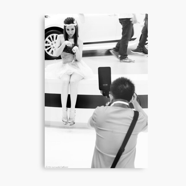 Take my Picture - Model being Photographed Metal Print