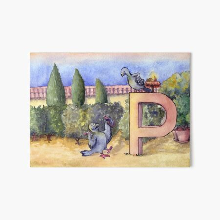 knowing letters - Drunk Pigeon Art Board Print