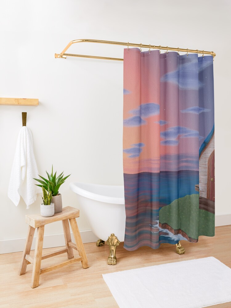 Alternate view of Island Life Shower Curtain