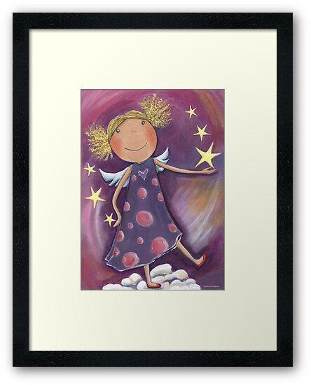 Blond Angel by Malerin Sonja Mengkowski