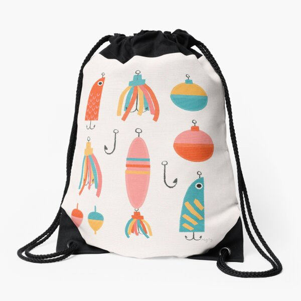 Fishing Lures Drawstring Bag