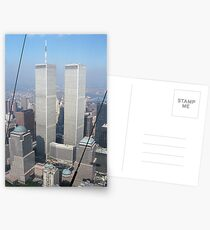 Twin Towers From Blimp Postcards