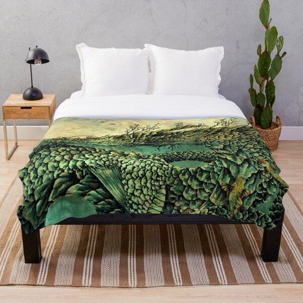 River Dragon Throw Blanket