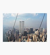 Twin Towers From Blimp Photographic Print