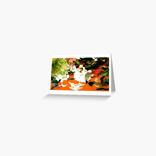 Esther at Easter:  Lower Left Corner of Ceramic Tile Painting Greeting Card