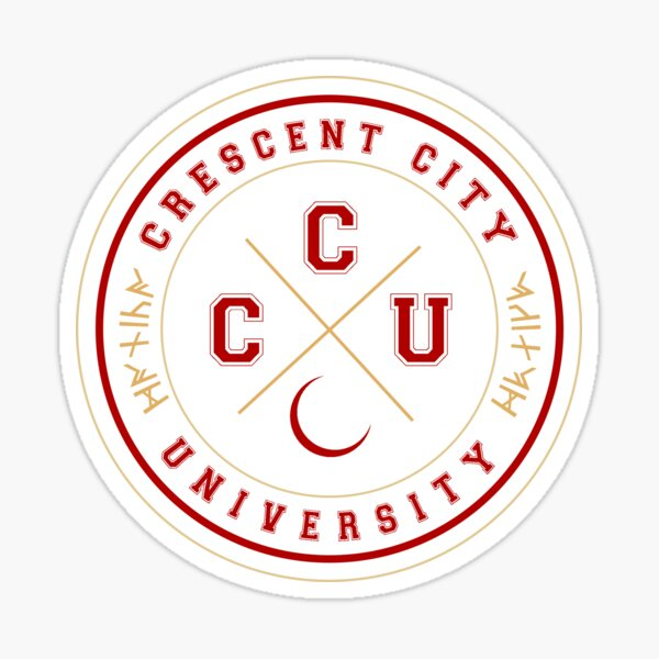 Crescent City University Sticker