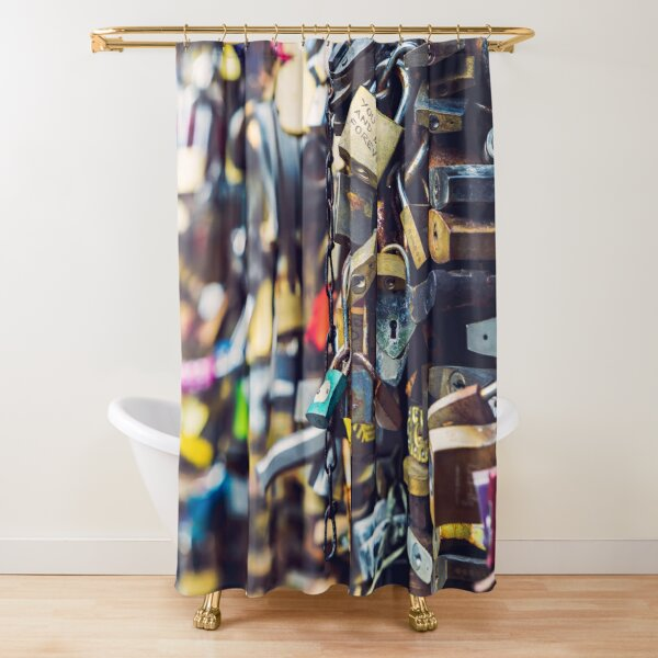 love locks you and me forever Shower Curtain