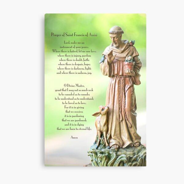 Prayer of St. Francis of Assisi Metal Print