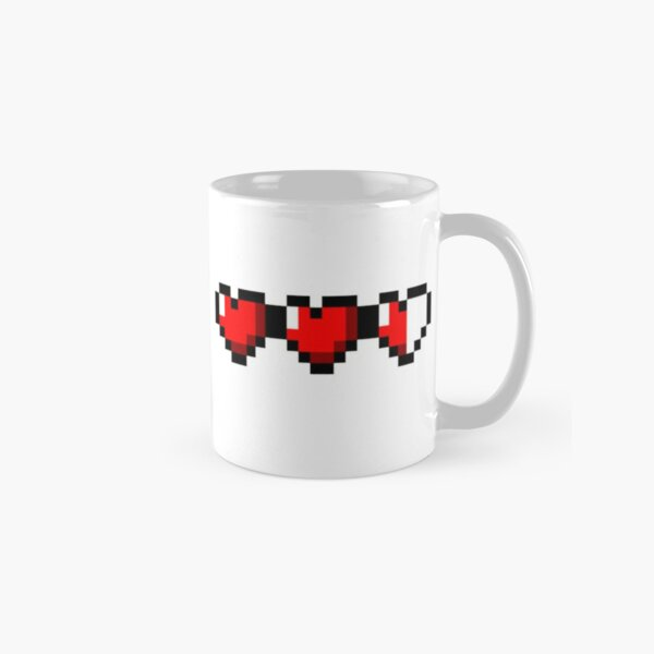 Half-Heart Video Game Hearts Classic Mug