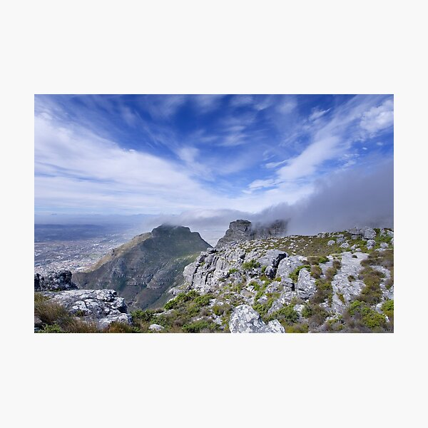 Looking over Capetown Photographic Print