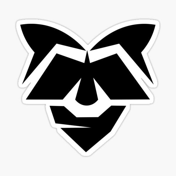 The 13andit - Racoon Wearing Bandana Logo Sticker