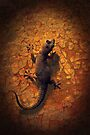 Little Lizard on a Wall by Emma  Gilette