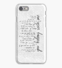 you belong with me iPhone Case/Skin