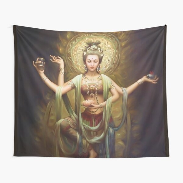 Quan Yin, The Mother and Goddess of Compassion  Tapestry
