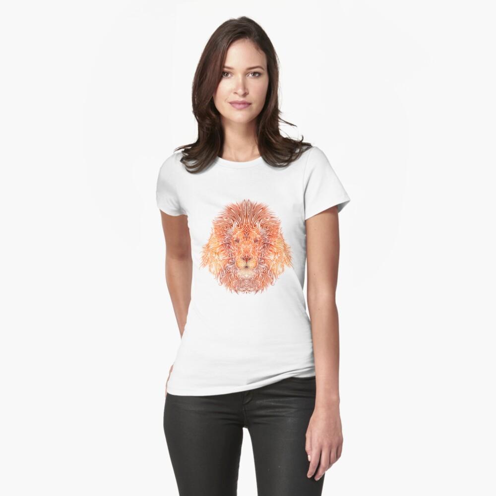 Stammeslöwe Tailliertes T-Shirt