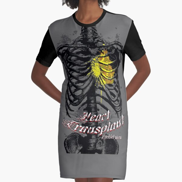 Heart Transplant Graphic T-Shirt Dress