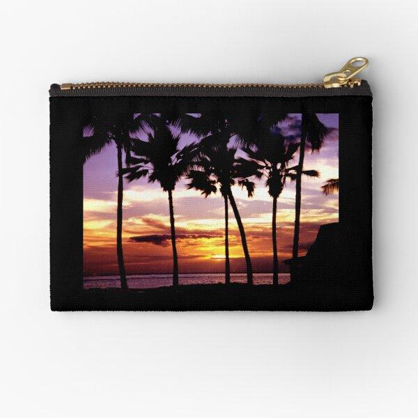 Hawaiian Sunset Zipper Pouch