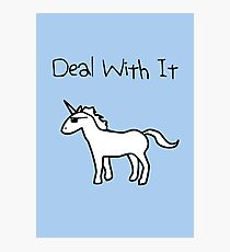Deal With It (Unicorn) Photographic Print