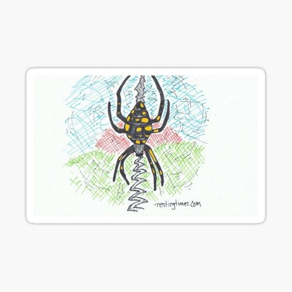 Spider Writing Sticker