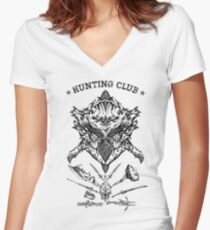 Hunting Club Women's Fitted V-Neck T-Shirt