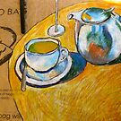 A Cup of Tea on a Potato Bag by Evelyn Bach
