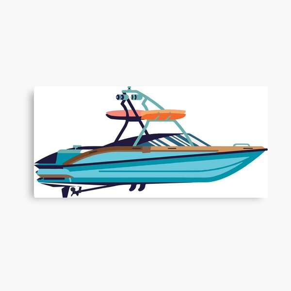 Wakeboard boat Canvas Print