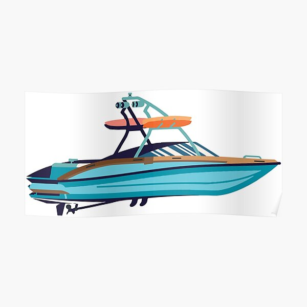 Wakeboard boat Poster