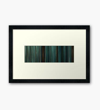 Moviebarcode: Twilight (2008) Framed Print