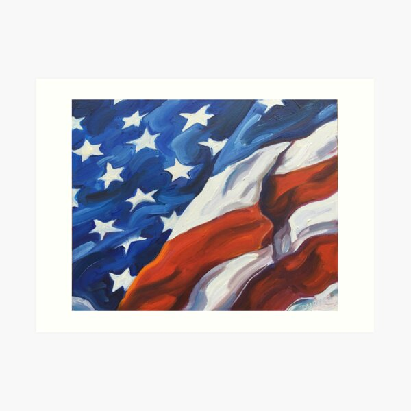 American Flag - Country First Art Print