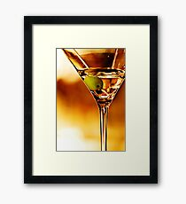 the martini - close up Framed Print