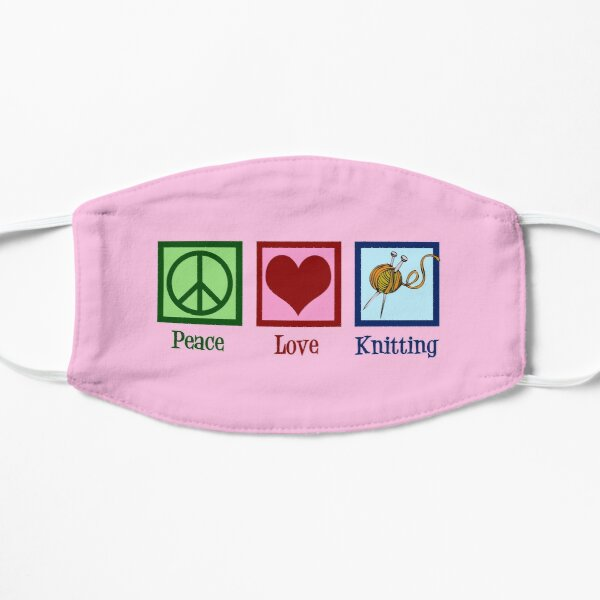 Peace Love Knit | Cute Knitting Mask