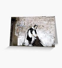 Banksy - Sweep it under the carpet N°1 Greeting Card
