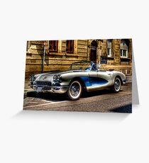 Corvette Oldtimer HDR Greeting Card