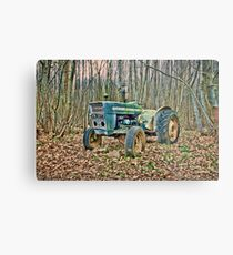 Tractor In The Woods Metal Print