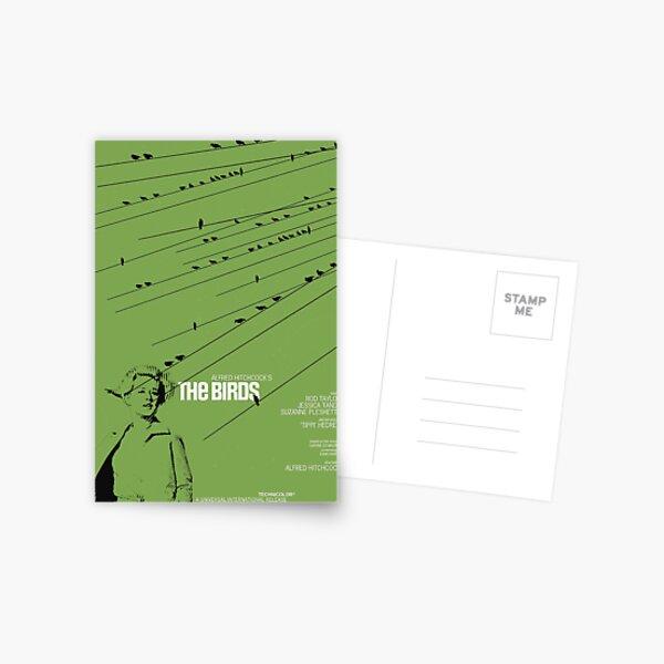 The Birds (1963) - Movie poster design Postcard