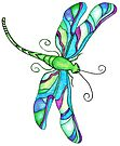 Stained Glass Dragonfly by EverIris