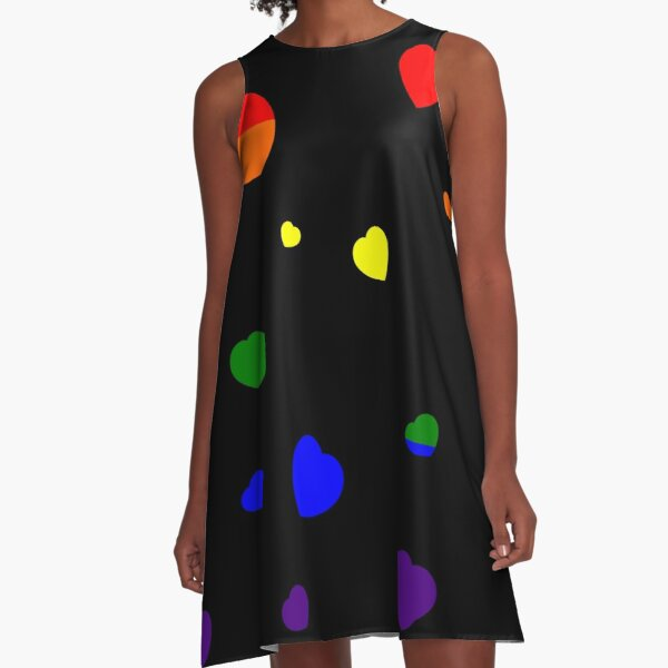 Chaotic Hearts, Pride Series - LGBT A-Line Dress