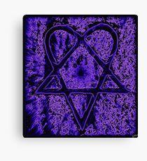 Violet Thoughts Heartagram Canvas Print