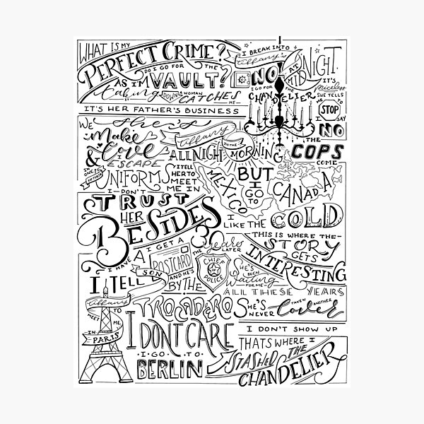 Dwight's Perfect Crime Hand Lettered Photographic Print